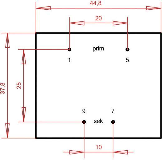 Printtransformator 1 x 230 V 1 x 24 V/AC 4.80 VA 200 mA PT422401 Gerth