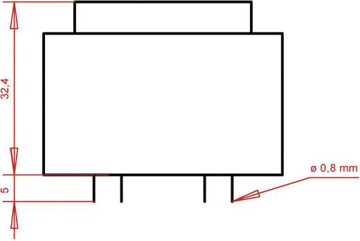 Printtransformator 1 x 230 V 1 x 9 V/AC 5.60 VA 622 mA PTB420901 Gerth