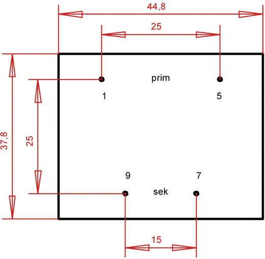 Printtransformator 1 x 230 V 1 x 12 V/AC 5.60 VA 466 mA PTB421201 Gerth