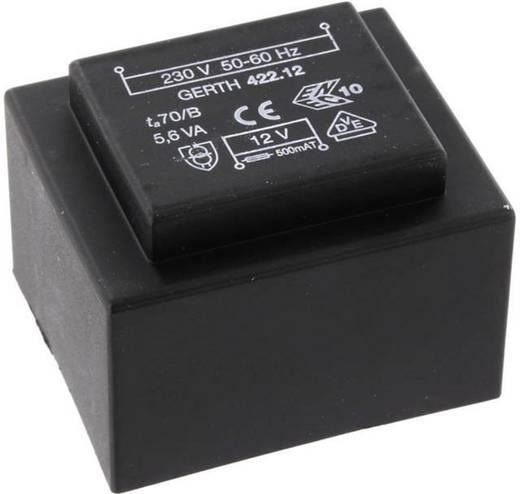 Printtransformator 1 x 230 V 2 x 15 V/AC 5.60 VA 186 mA PTB423002 Gerth