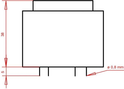 Printtransformator 1 x 230 V 1 x 24 V/AC 8 VA 333 mA PTF422401 Gerth