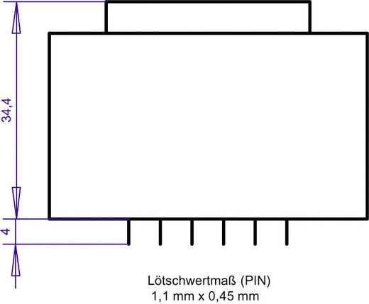 Printtransformator 1 x 230 V 1 x 15 V/AC 10 VA 666 mA PT481501 Gerth