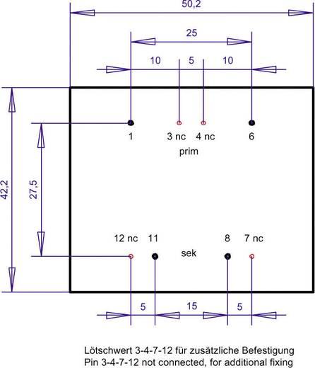 Printtransformator 1 x 230 V 1 x 18 V/AC 10 VA 556 mA PT481801 Gerth