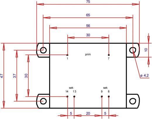 Printtransformator 1 x 230 V 2 x 6 V/AC 16 VA 1333 mA PTA541202 Gerth