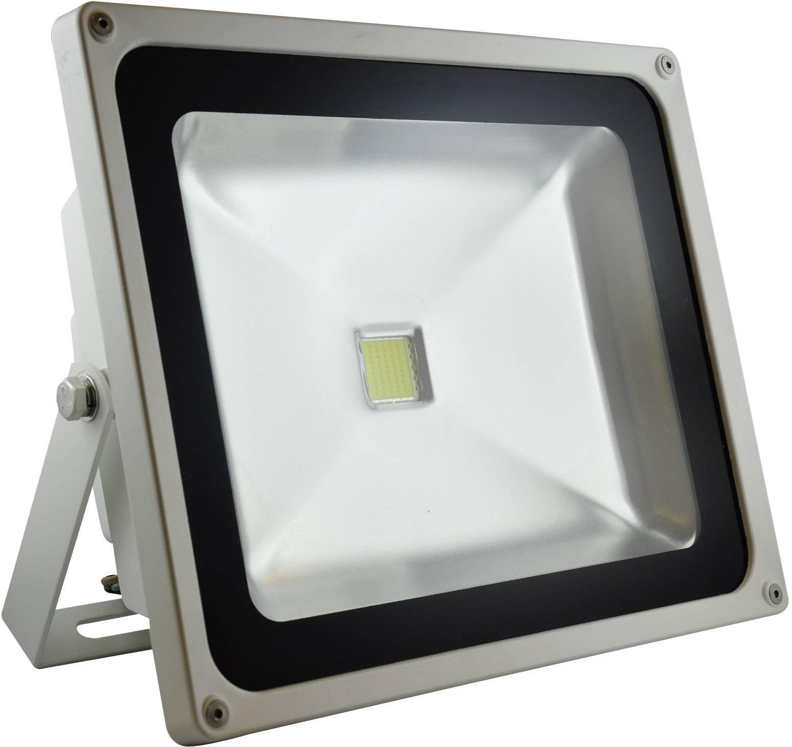LED Außenstrahler 50 W Warm Weiß DioDor DIO FL50N W Weiß