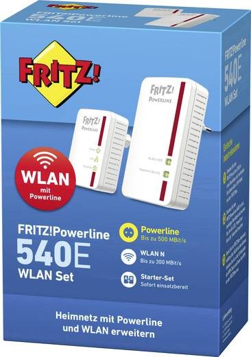 powerline wlan starter kit 500 mbit s avm fritz powerline 540e wlan set kaufen. Black Bedroom Furniture Sets. Home Design Ideas