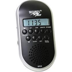 Rádio na bicykel Security Plus BR28 MP3/USB, čierna, strieborná