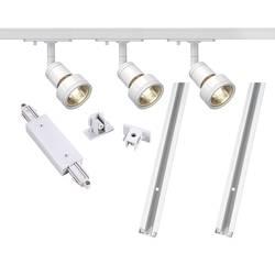 Lištový systém svítidel SLV, 1fázový, LED, 3x 50 W, GU10, bílá - Big White 143191 - Big White 143191