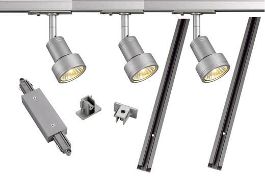 Schienen-Komplett-System GU10 12.9 W LED SLV 143194 Silber-Grau
