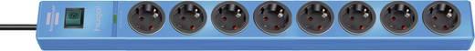 Überspannungsschutz-Steckdosenleiste 8fach Blau Schutzkontakt Brennenstuhl 1150610388