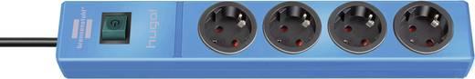 Steckdosenleiste mit Schalter 4fach Blau Schutzkontakt Brennenstuhl 1150610184