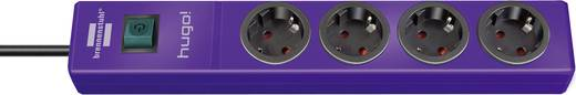 Steckdosenleiste mit Schalter 4fach Lila Schutzkontakt Brennenstuhl 1150610134