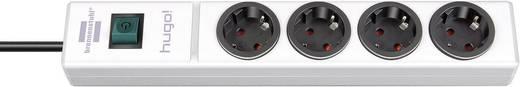 Steckdosenleiste mit Schalter 4fach Weiß Schutzkontakt Brennenstuhl 1150610124