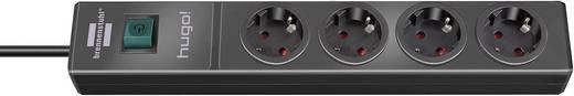 Brennenstuhl 1150610114 Steckdosenleiste mit Schalter 4fach Schwarz Schutzkontakt