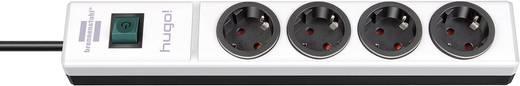 Steckdosenleiste mit Schalter 4fach Weiß, Schwarz Schutzkontakt Brennenstuhl 1150610104