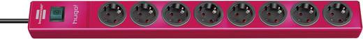 Brennenstuhl 1150610178 Steckdosenleiste mit Schalter 8fach Rot Schutzkontakt