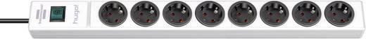 Steckdosenleiste mit Schalter 8fach Weiß Schutzkontakt Brennenstuhl 1150610128
