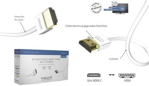 Inakustik HDMI Anschlusskabel [1x HDMI-Stecker - 1x HDMI-Stecker C Mini] 3 m Weiß