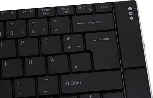 Bluetooth-Tastatur Typhoon Black Physics Schwarz