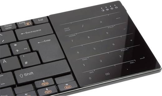 Funk-Tastatur Typhoon Elegant Touch Schwarz Integriertes Touchpad