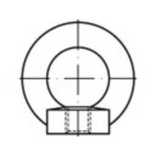 TOOLCRAFT 109393 Ringmuttern M8 DIN 582 Stahl 25 St.