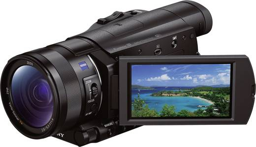 Camcorder Sony FDR-AX100E 8.9 cm 3.5 Zoll 20.9 Mio. Pixel Opt. Zoom: 12 x Schwarz
