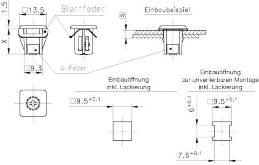 Schnellbefestigung GDZn Metall PB Fastener 0111-095-02-13-49 1 St.