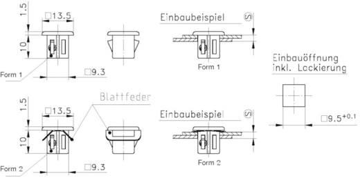 Schnellbefestigung GDZn Metall PB Fastener 0111-095-03-34 1 St.