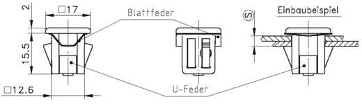 Schnellbefestigung GDZn Metall PB Fastener 0111-127-01-29 1 St.