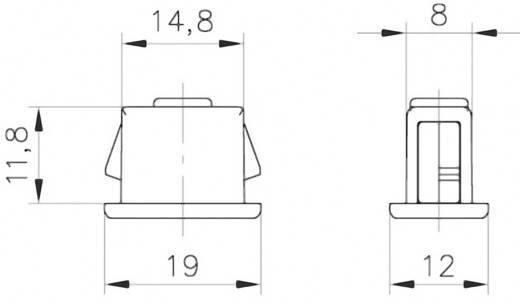 Schnellbefestigung Polyamid Lichtgrau PB Fastener 0111-1508-01-40-gr 1 St.