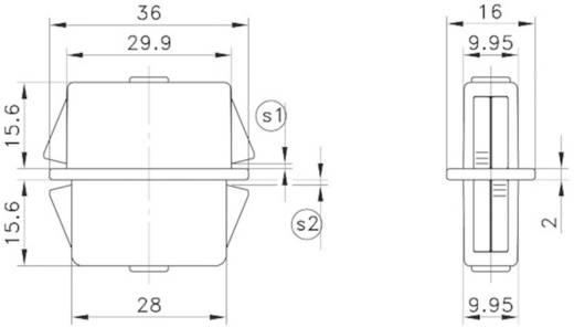 Doppelbefestiger GDZn Schwarz PB Fastener 0111-3010-02-22-gsw 1 St.