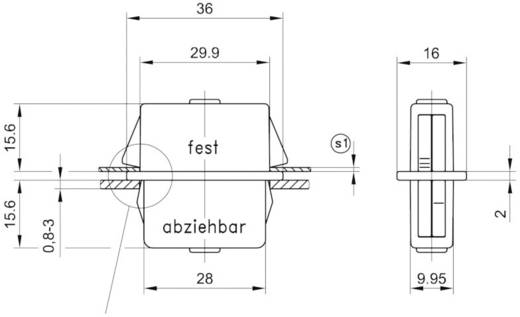 Doppelbefestiger Polyamid Schwarz PB Fastener 0111-3010-03-50-12-p 1 St.