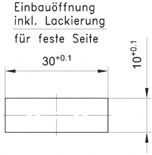Doppelbefestiger GDZn Schwarz PB Fastener 0111-3010-03-50-27-g 1 St.