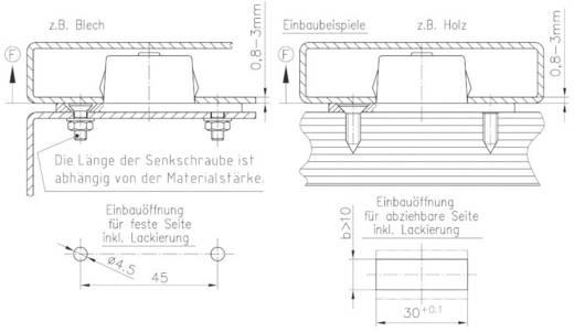 Befestiger GDZn Schwarz PB Fastener 0111-3010-04-50-08 1 St.