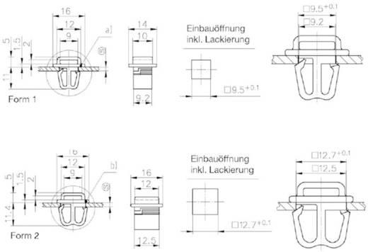 Stecksockel Polyamid Schwarz PB Fastener 1070-SL-30-095 1 St.