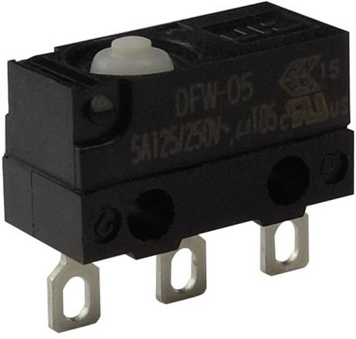 Mikroschalter 250 V/AC 5 A 1 x Ein/(Ein) Zippy DFW-05L-B00E0E-Z IP67 tastend 1 St.