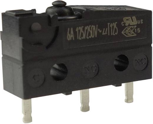 Mikroschalter 250 V/AC 6 A 1 x Ein/(Ein) Zippy SW1-06S1-00P0-Z tastend 1 St.