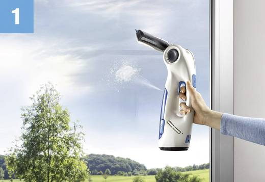 Fenstersauger Dirt Devil DD400 AquaClean Window Vac Weiß-Blau