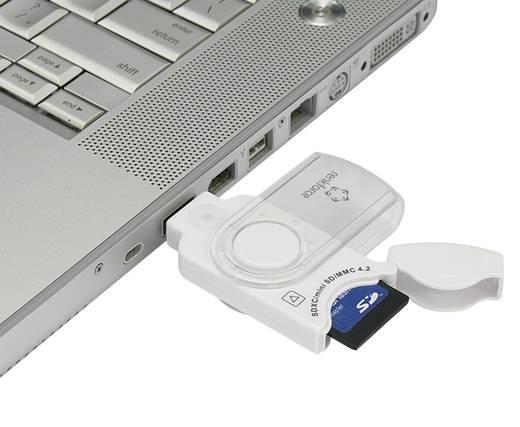 Externer Speicherkartenleser USB 3.0 Renkforce CR06e-K Weiß