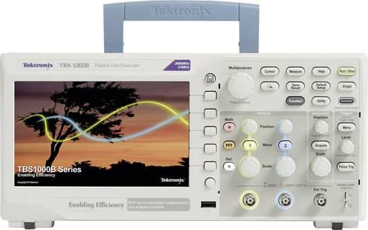 Digital-Oszilloskop Tektronix TBS1202B 200 MHz 2-Kanal 2 GSa/s 2.5 kpts 8 Bit Kalibriert nach ISO Digital-Speicher (DSO)