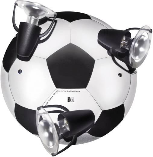 Deckenstrahler Fußball Energiesparlampe E14 27 W Waldi Leuchten Nogometna lopta Schwarz-Weiß