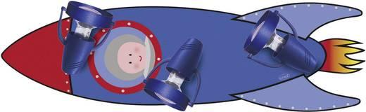 Deckenstrahler Rakete Energiesparlampe E14 27 W Waldi Leuchten Rakete Blau, Rot