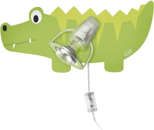 Wandleuchte Krokodil Energiesparlampe E14 9 W Waldi Leuchten 27072 Grün