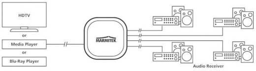 4 Port Toslink-Splitter Marmitek Split TS14 Schwarz