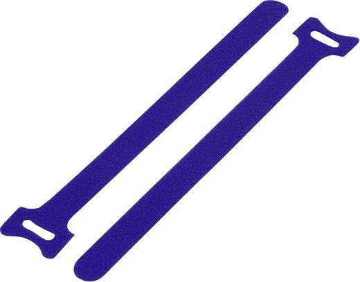 Klettkabelbinder zum Bündeln Haft- und Flauschteil (L x B) 135 mm x 12 mm Blau KSS MGT-135BE 1 St.