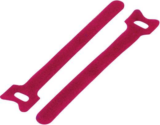 Klettkabelbinder zum Bündeln Haft- und Flauschteil (L x B) 125 mm x 12 mm Rot KSS MGT-125RD 1 St.