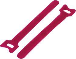 Collier de serrage auto-agrippant KSS 1095574 pour grouper partie velours et partie crochets (L x l) 150 mm x 12 mm roug