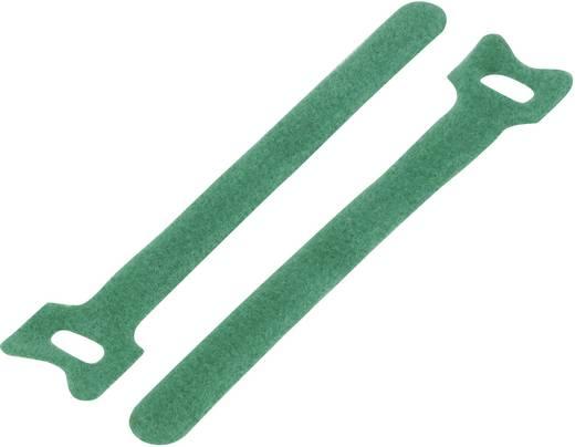 Klettkabelbinder zum Bündeln Haft- und Flauschteil (L x B) 150 mm x 10 mm Grün KSS MGT-150MGN 1 St.