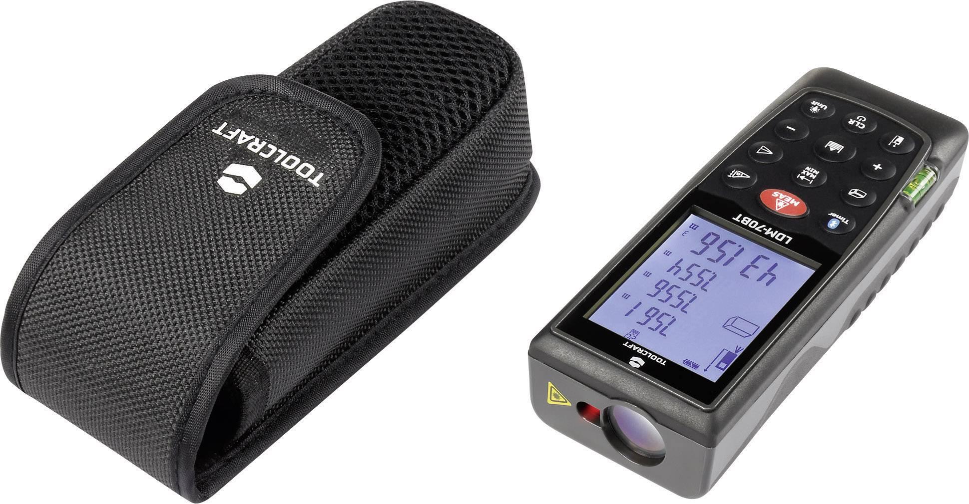 Laser Entfernungsmesser Tageslicht : Toolcraft ldm bt laser entfernungsmesser