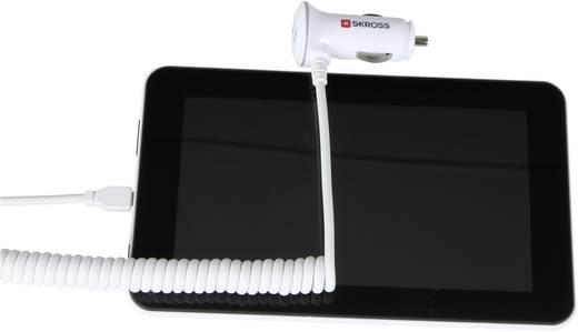 Skross USB-Adapter für den Zigarettenanzünder Midget Plus Micro USB Anschluß Belastbarkeit Strom max.=2.1 A Passend für